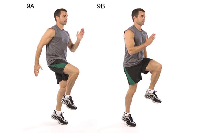 Bài tập chạy bộ nâng cao gối