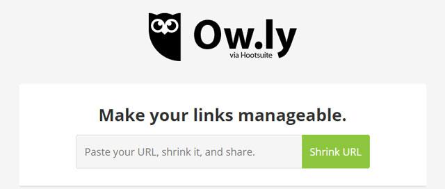 Rút gọn link miễn phí bằng Ow.ly