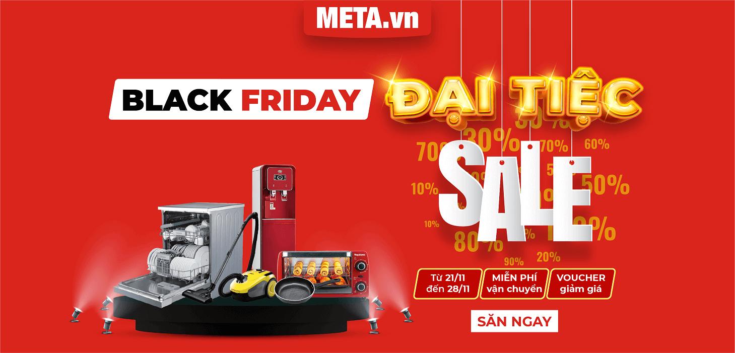 Đại tiệc Sale Black Friday tại META.vn