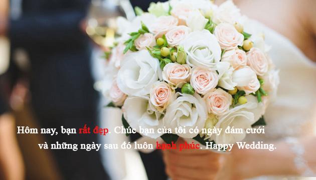 Gửi lời chúc mừng đám cưới đến bạn thân
