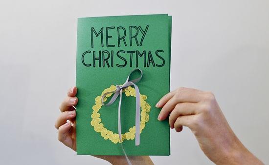 Hướng dẫn cách làm thiệp Giáng Sinh