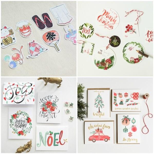 Làm thiệp Giáng Sinh handmade