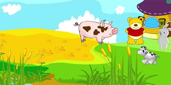 Câu chuyện Lợn con đi thăm bạn