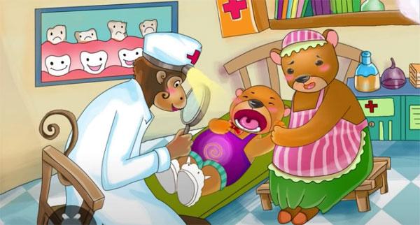 Câu chuyện Gấu con bị sâu răng