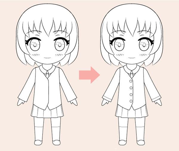 Cách vẽ anime chibi cute đơn giản