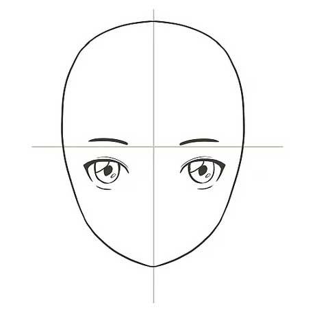 Vẽ lông mày cho nhân vật anime
