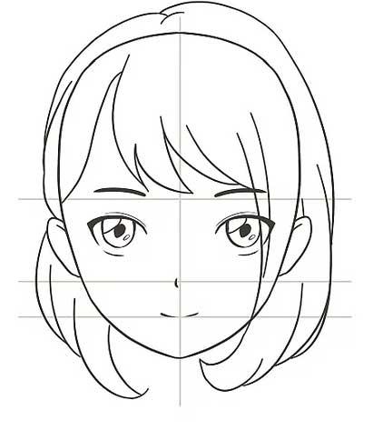 Vẽ tóc cho nhân vật anime