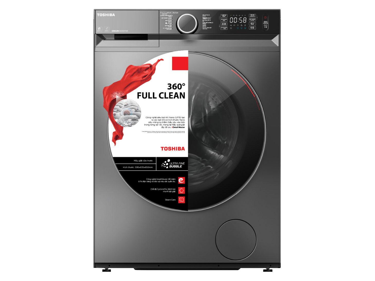 Máy giặt Toshiba inverter 9.5kg TW-BK105G4V(SS) - New 2020