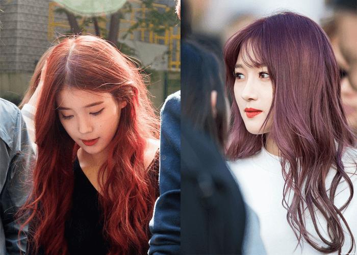 Màu nhuộm tóc nâu đỏ