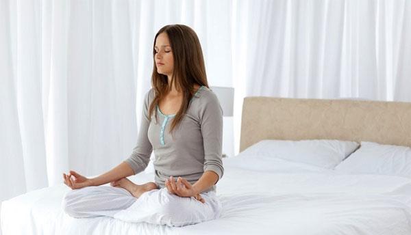 Bài tập yoga giúp ngủ ngon số 2 - thiền