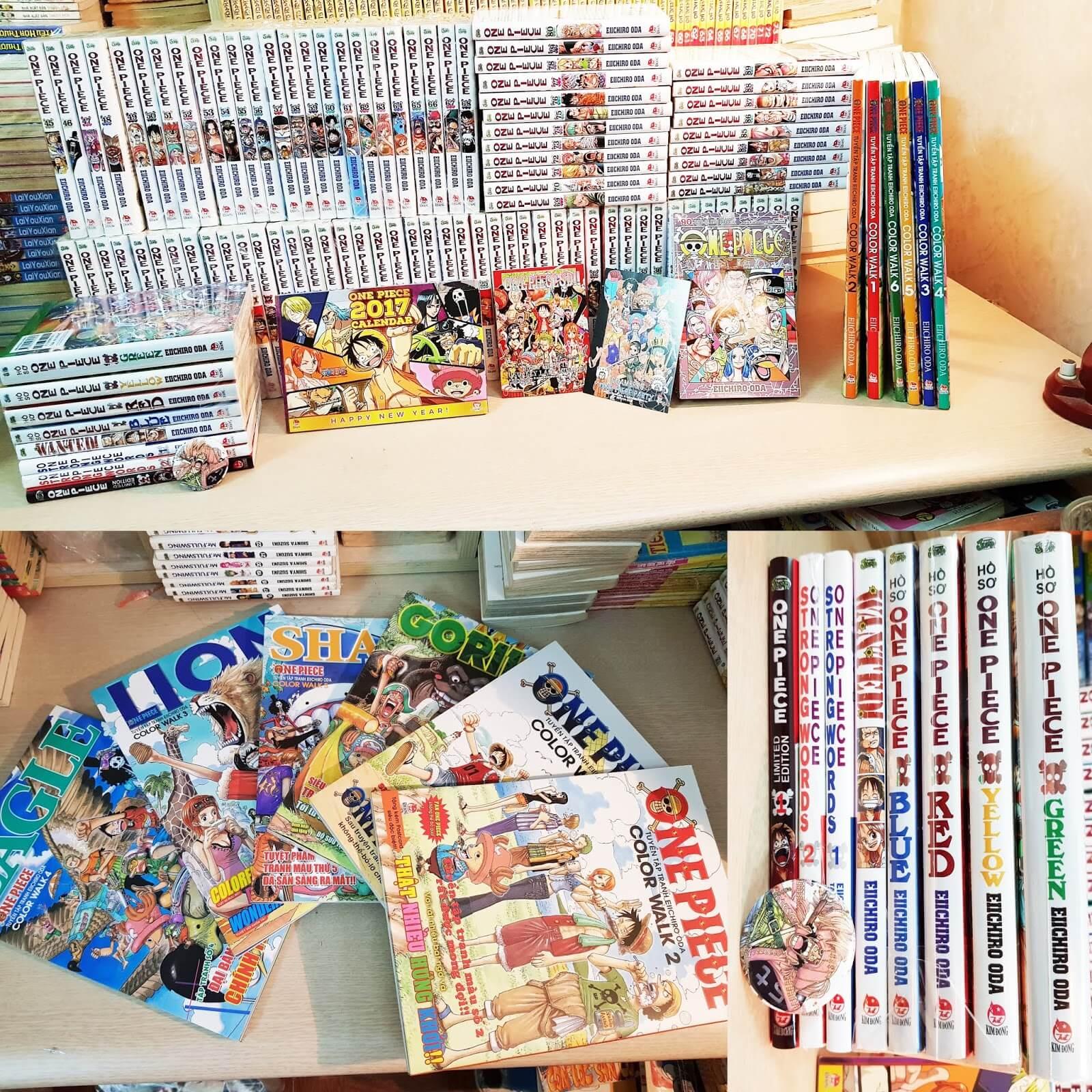 Bộ truyện trang One Piece rất được yêu thích tại Việt Nam
