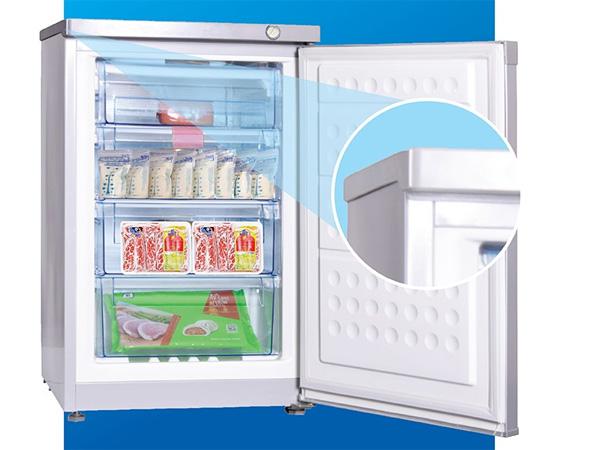 Tủ đông đứng Hòa Phát 106 lít HUF-300SR1 nhôm (R134A) (4 ngăn) (2020)