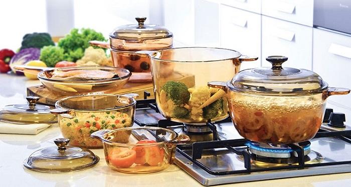 Nồi thủy tinh nấu bếp từ, bếp ga, bếp hồng ngoại có được không?
