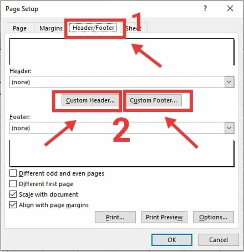 Đánh số trang Excel