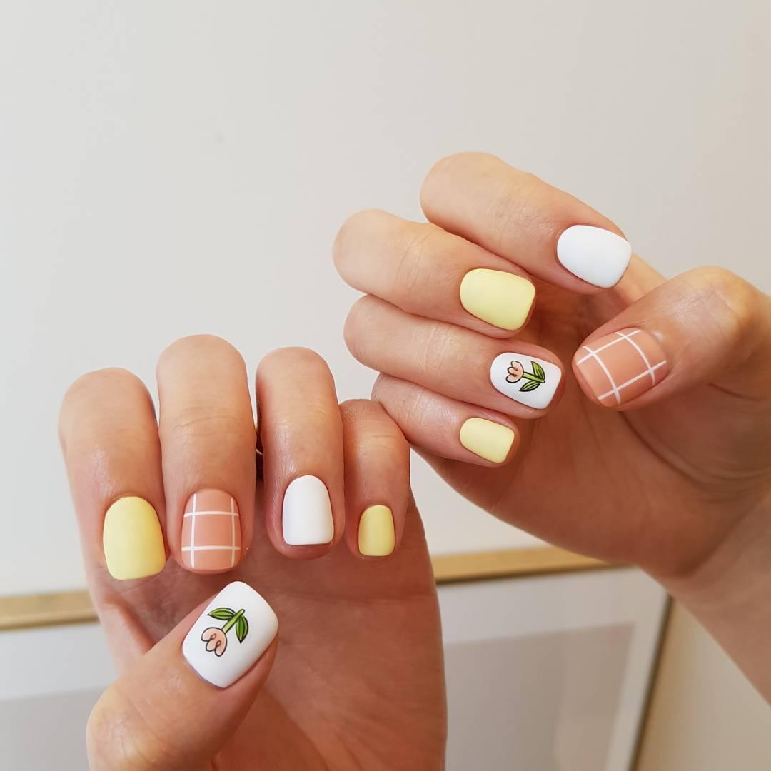 Các mẫu móng tay ngắn Hàn Quốc