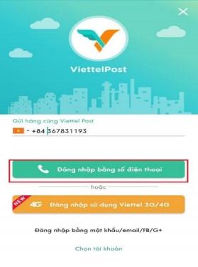 Cách đăng nhập app ViettelPost