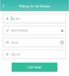 Điền thông tin đăng ký ứng dụng ViettelPost