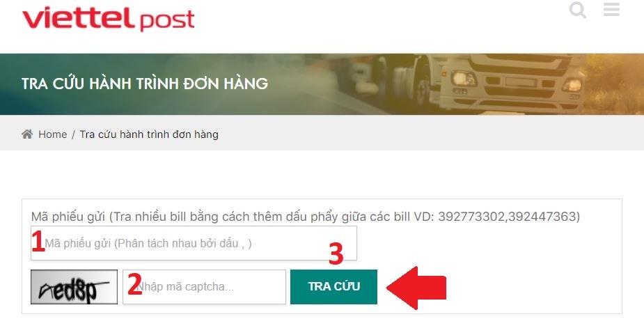 Kiểm tra đơn hàng trên website của ViettelPost