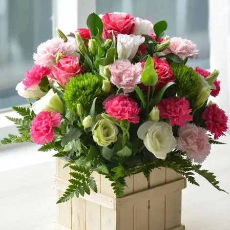 Mẫu cắm hoa cẩm chướng