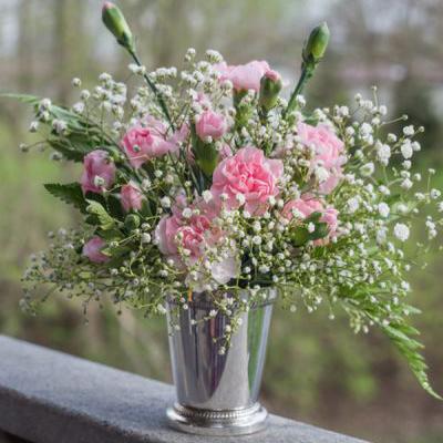Cách cắm hoa cẩm chướng đẹp bày Tết