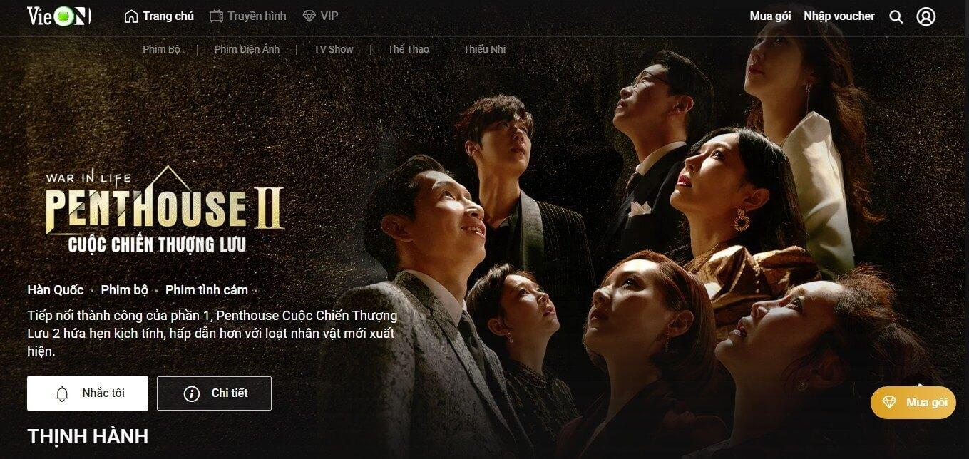 Xem phim online tại Vieon.vn