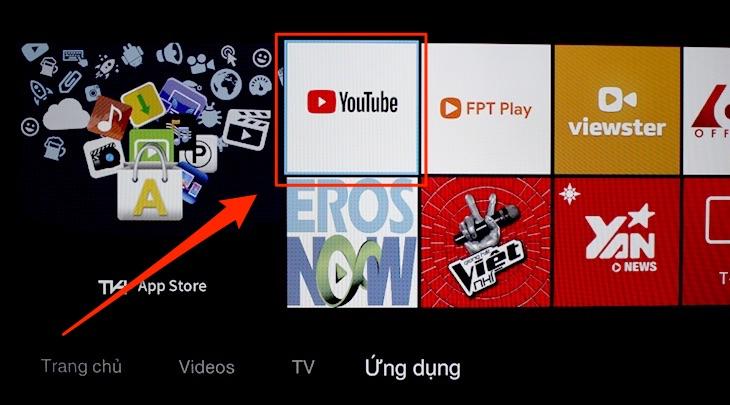Cách thiết lập lại ứng dụng YouTube trên tivi TCL