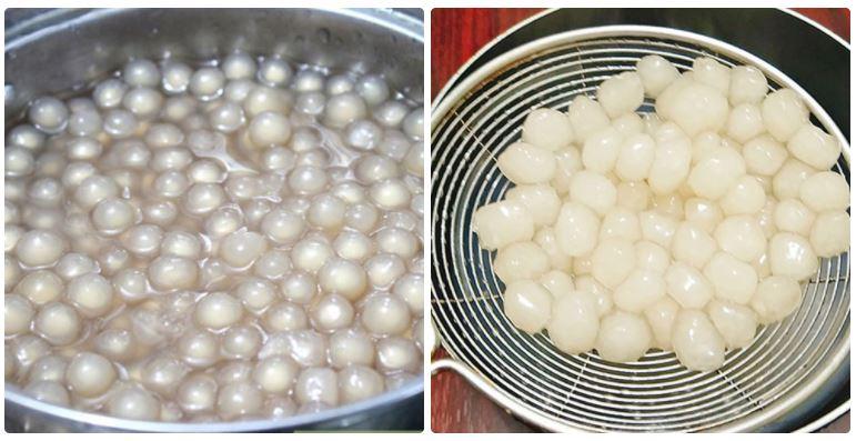 Cách làm trân châu bằng bột năng
