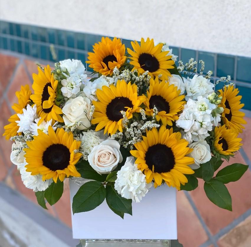 Lẵng hoa hướng dương tặng ngày tốt nghiệp
