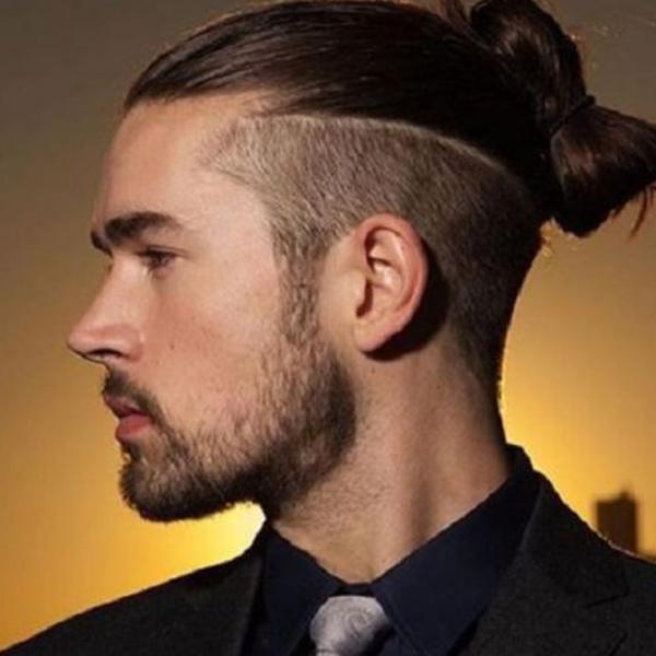 Kiểu tóc buộc nửa đầu nam