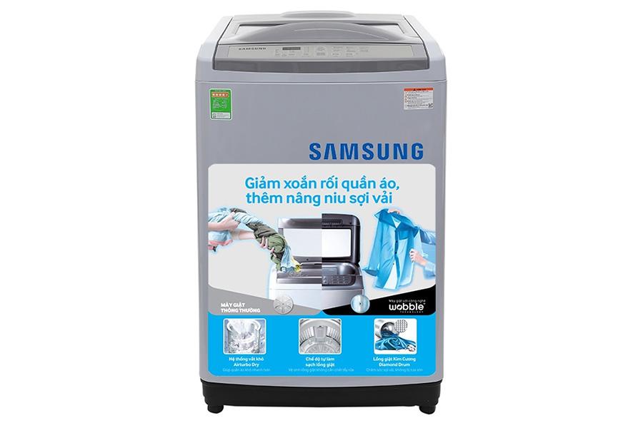 Máy giặt lồng đứng 9kg Samsung WA90M5120SG/SV
