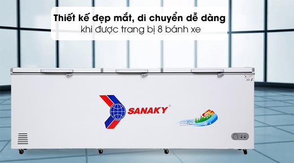 Tủ đông inverter 1 ngăn 3 cánh mở Sanaky VH-1199HY3
