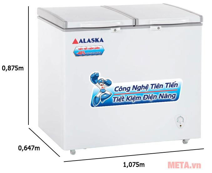 Tủ đông Alaska BCD-3568N (350 lít)