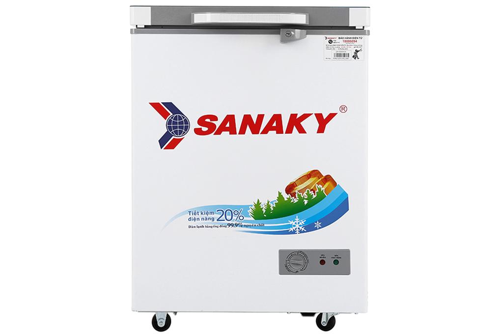 Tủ đông 1 ngăn Sanaky mặt kính cường lực 100 lít VH-1599HYK (kính xám)