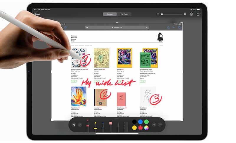iPad Pro 12,9 với Apple Pencil 2 hiện đại, tiện ích