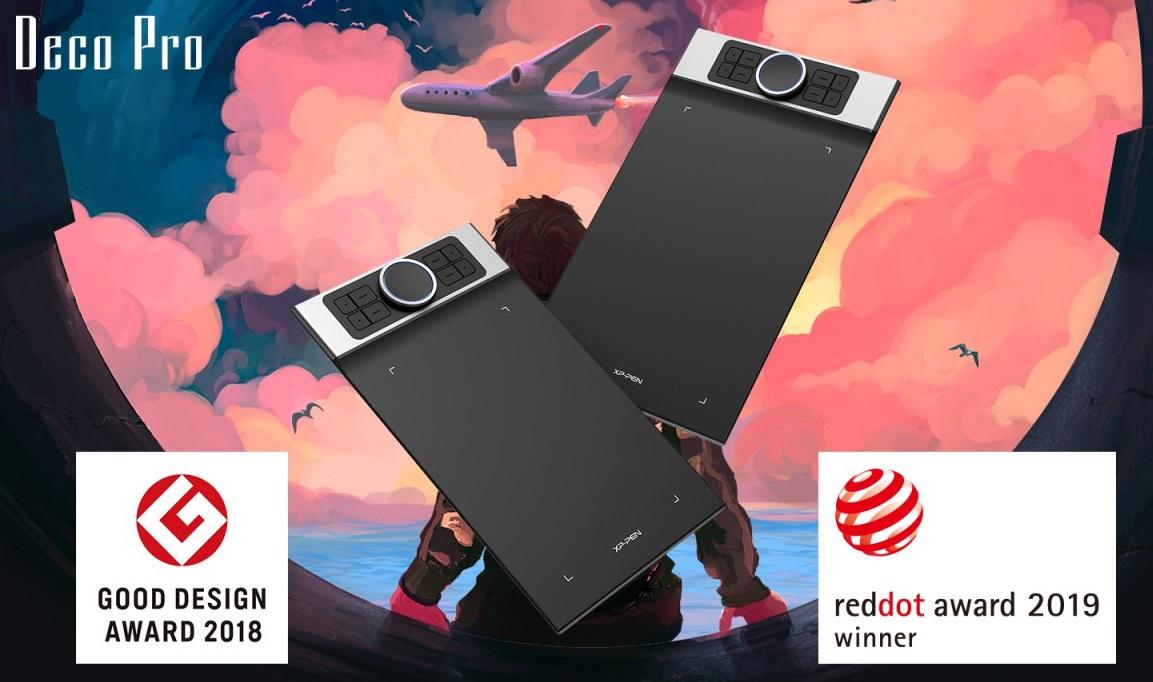 XP-Pen Deco Pro Small & Medium đạt 2 giải thưởng thiết kế lớn
