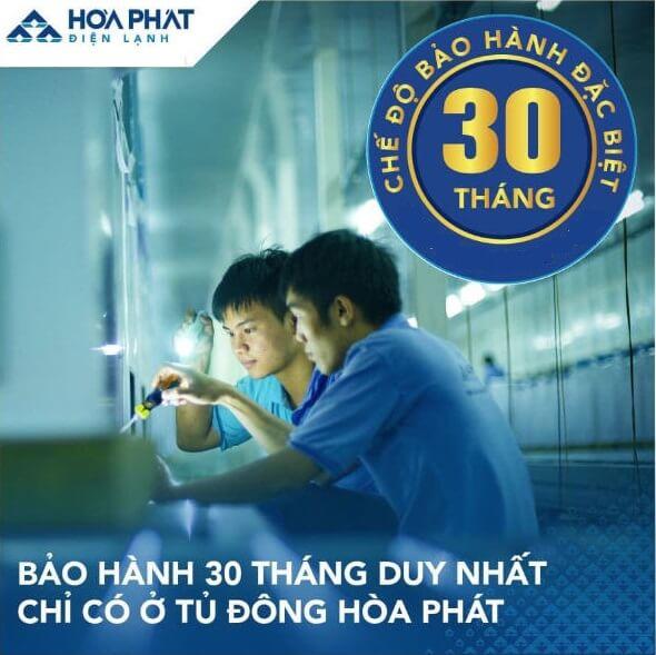 Tủ đông mini Hòa Phát HCF 106S1ĐSH 100 lít dàn đồng bảo hành 30 tháng