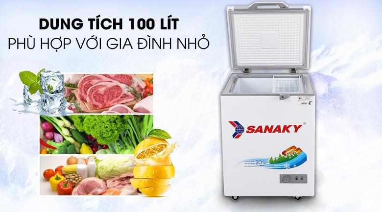 Tủ đông Sanaky 100L loại nào tốt? Giá bao nhiêu?