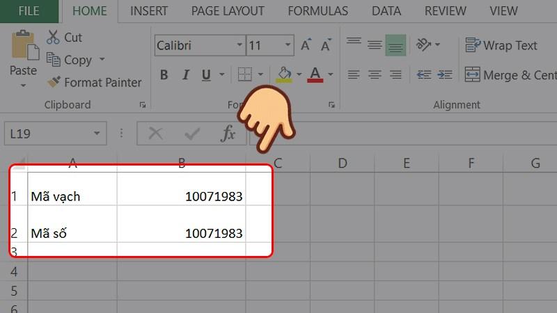 Cách tạo mã vạch bằng Excel