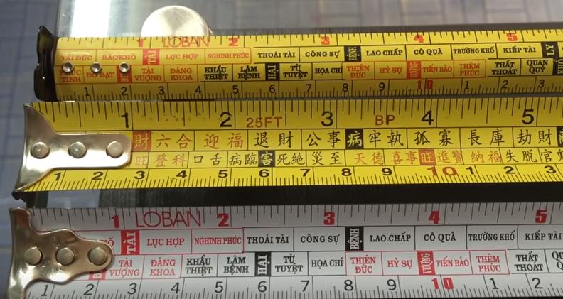 Ý nghĩa của các cung trên thước lỗ ban 39