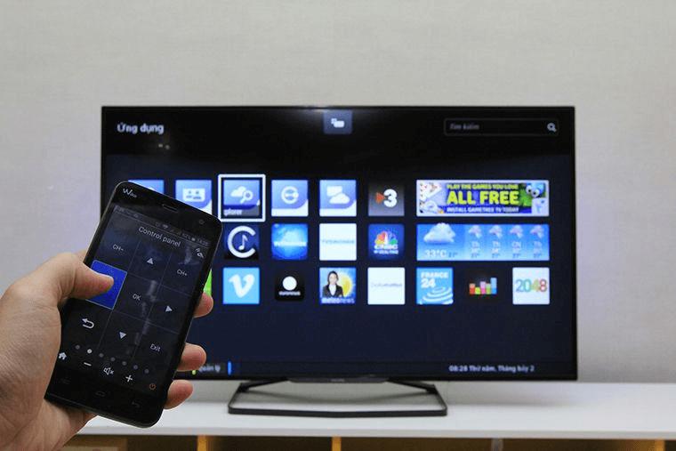 Cách sử dụng điện thoại đều khiển tivi Casper