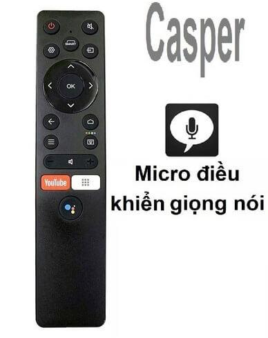 Điều khiển tivi Casper điều khiển bằng giọng nói