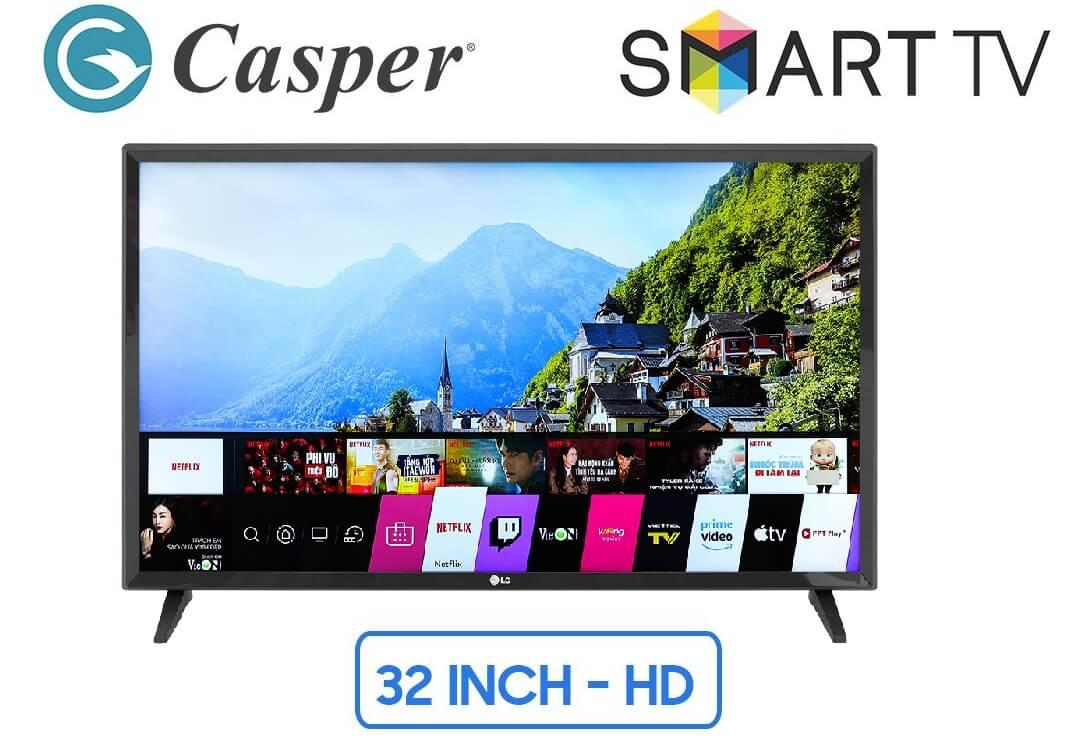 Tivi casper 32 inches thuộc phân khúc smart tivi giá rẻ