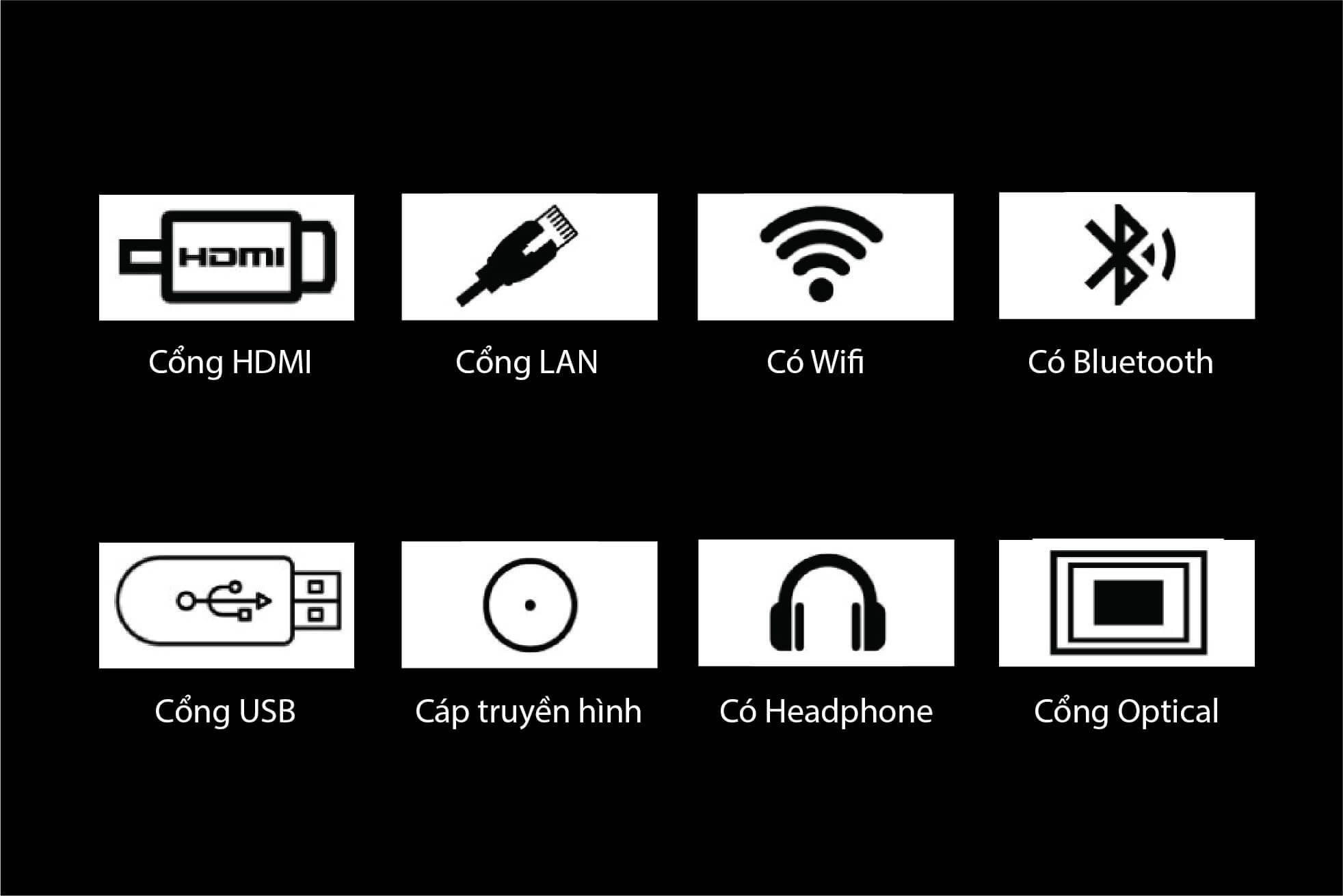 Tivi Casper 50 inches có khả năng kết nối đa dạng