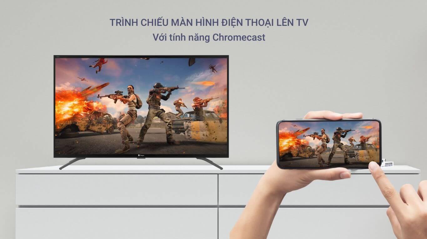 Tivi Casper 50 inches đồng bộ tivi và smartphone