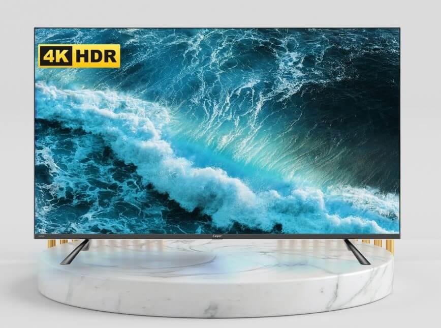 Tivi Casper 50 inches thiết kế màn hình tràn vô cực, độ phân giải cao