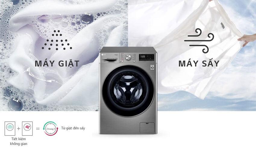Cách sử dụng tính năng giặt, sấy của máy giặt LG FV1409G4V