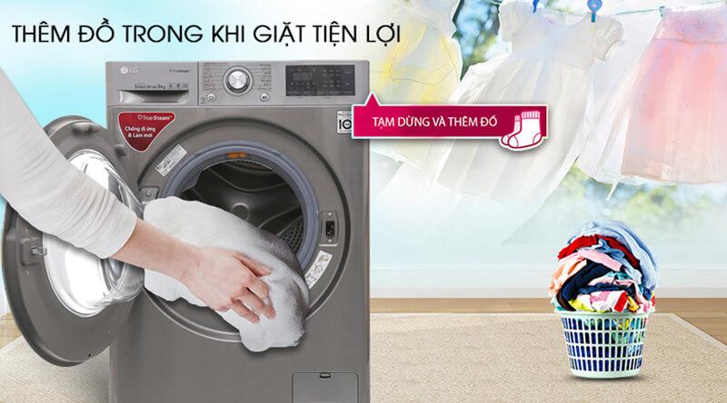 Tính năng Add Item của máy giặt LG FV1409G4V