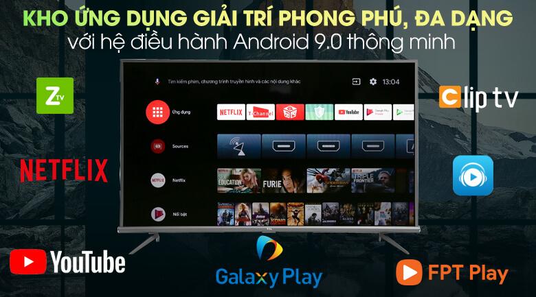 Tivi TCL 43 inch tích hợp hệ điều hành Android 9.0
