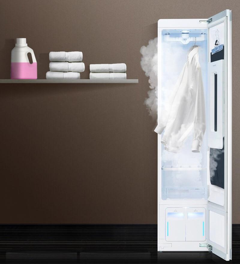 Tủ chăm sóc quần áo LG và tủ chăm sóc quần áo Samsung đều có thể hút ẩm không khí
