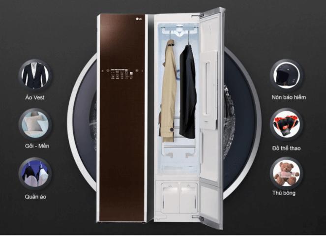 Tủ chăm sóc quần áo thông minh LG S3RF chăm sóc trang phục khó